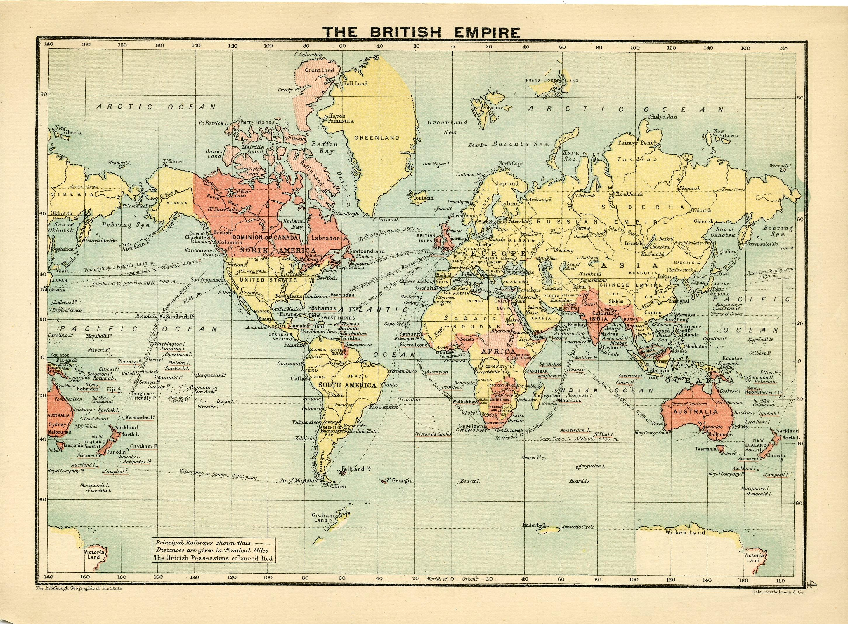 The royal canadian world atlas a series of full coloured maps with map the british empire gumiabroncs Image collections