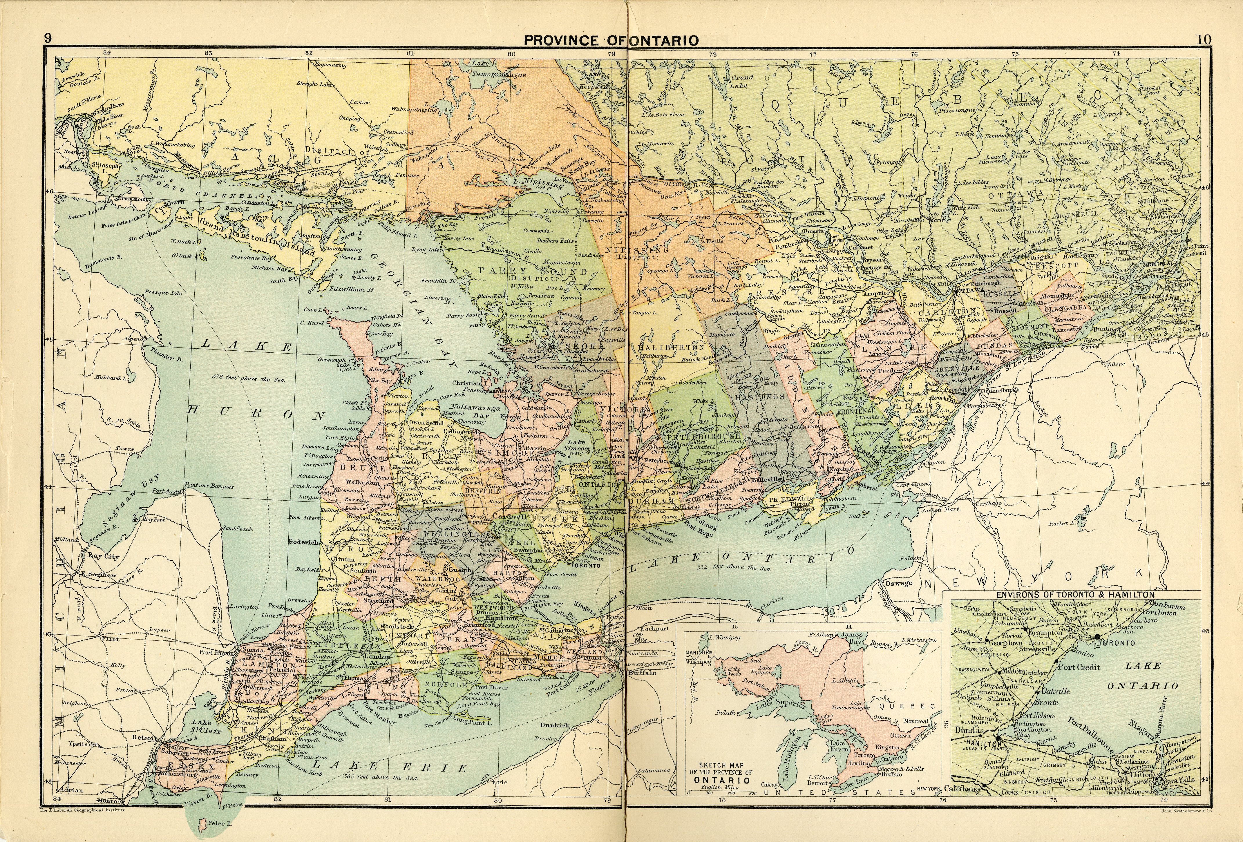 The royal canadian world atlas a series of full coloured maps with map province of ontario gumiabroncs Image collections
