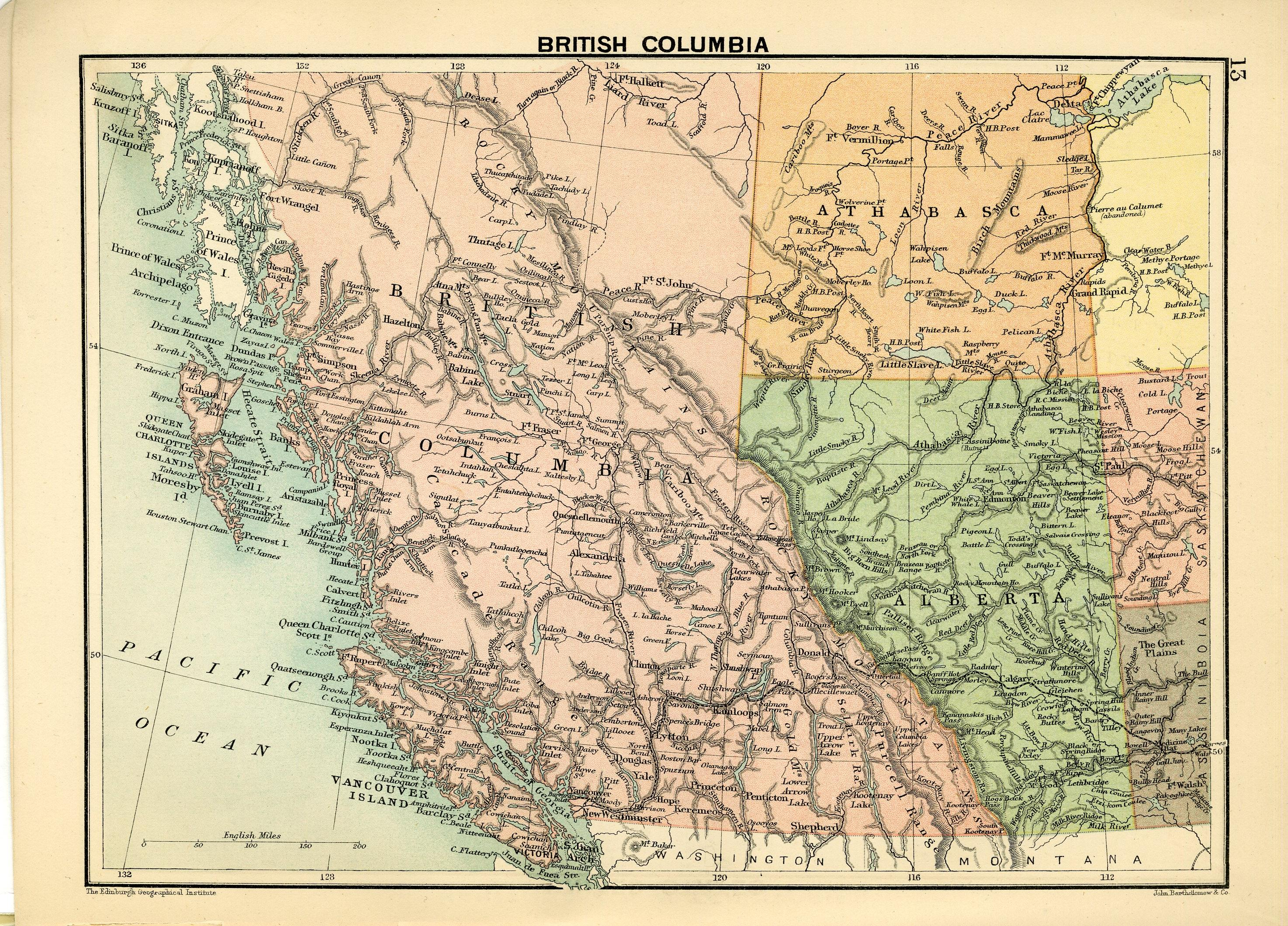 The royal canadian world atlas a series of full coloured maps with map british columbia gumiabroncs Choice Image