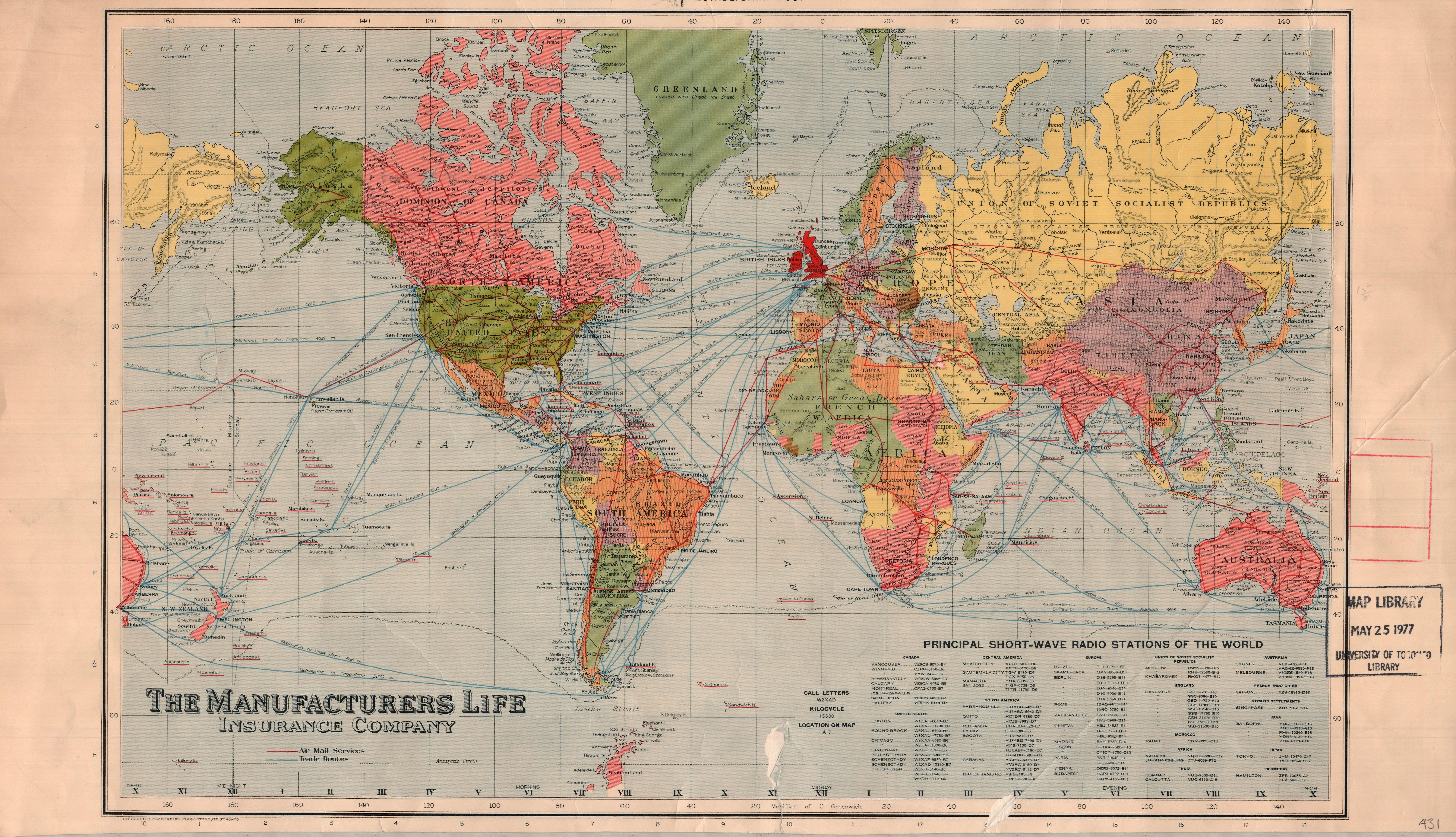 Principal short wave radio stations of the world map and data library map gumiabroncs Images