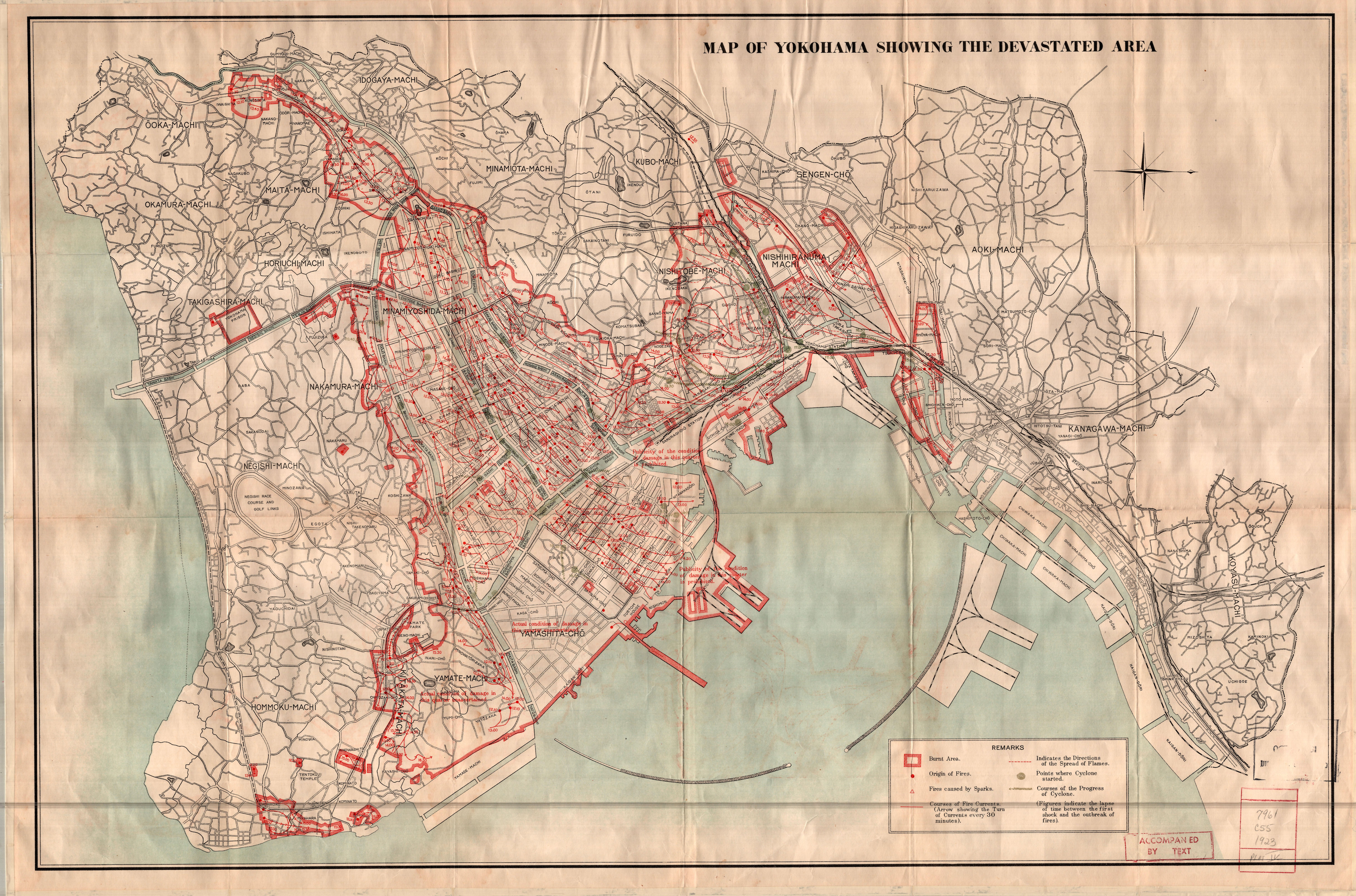 Companion Maps And Diagrams To The Great Earthquake Of In - Japan map yokohama tokyo