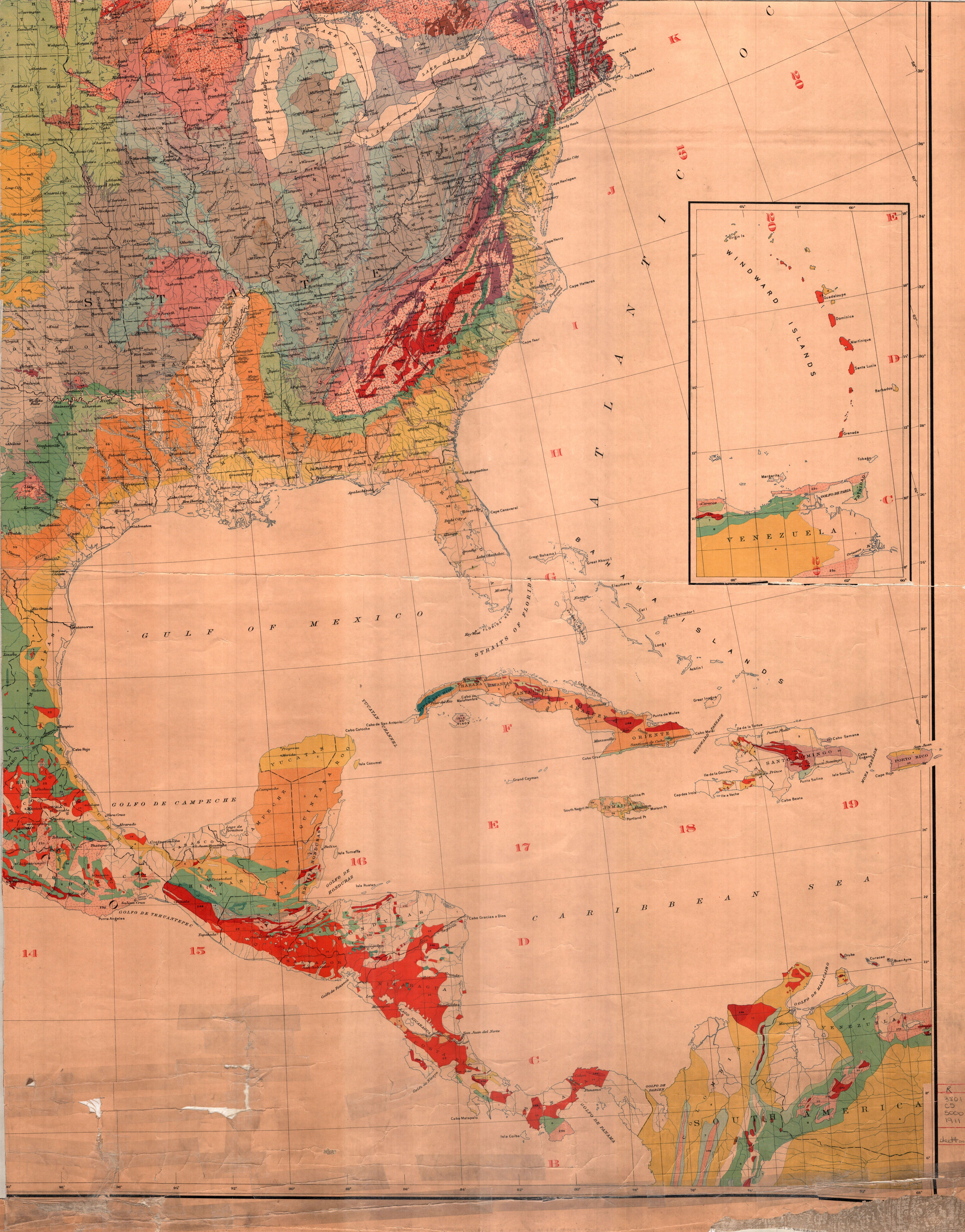 Geologic Map Of North America Map And Data Library