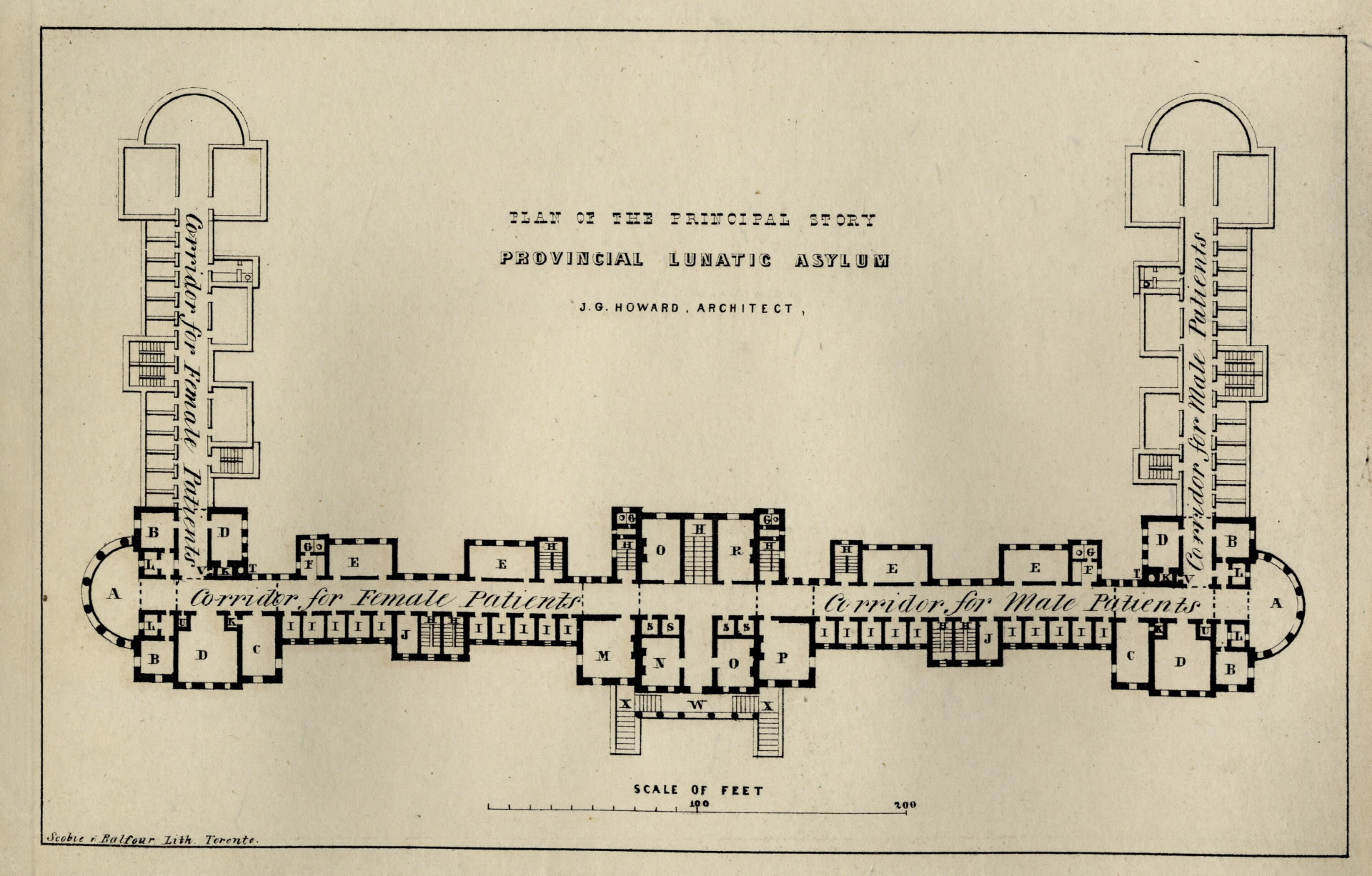 Fort York and Garrison Common Maps ca 1847 Howard Plan of the