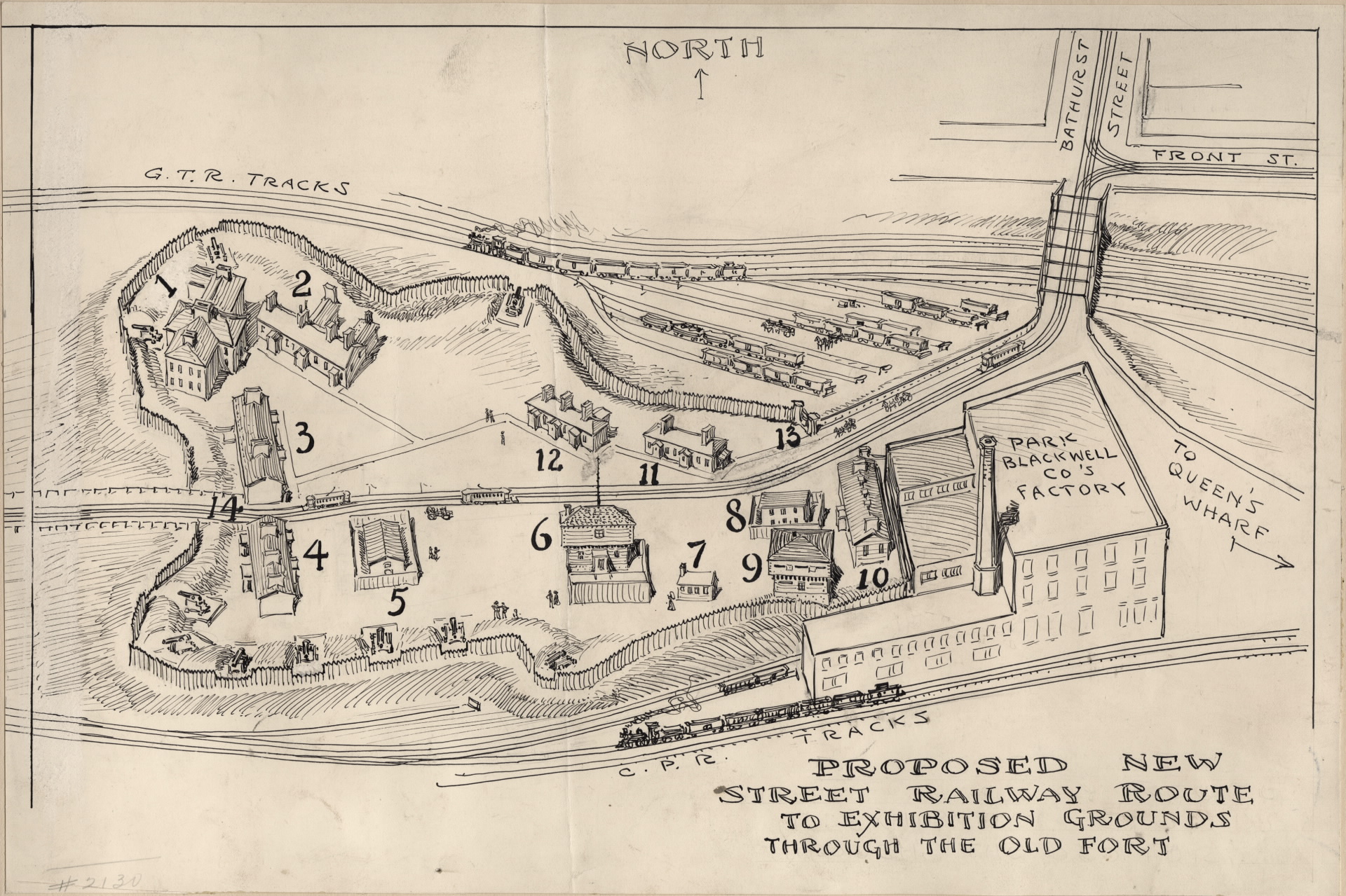 Garrison New York Map.Fort York And Garrison Common Maps 1905 Staples Proposed New