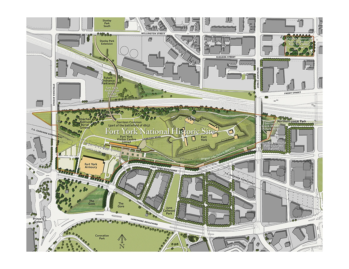 Fort York and Garrison Common Maps 2012 DTAHWyma Fort York – Rendered Site Plan