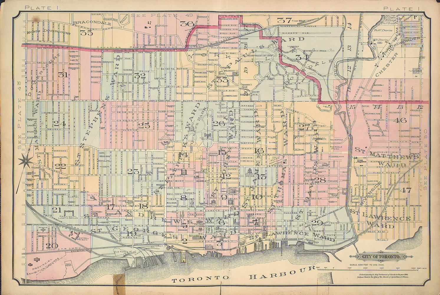 Maps Toronto.Goad S Atlas Of The City Of Toronto Fire Insurance Maps From The