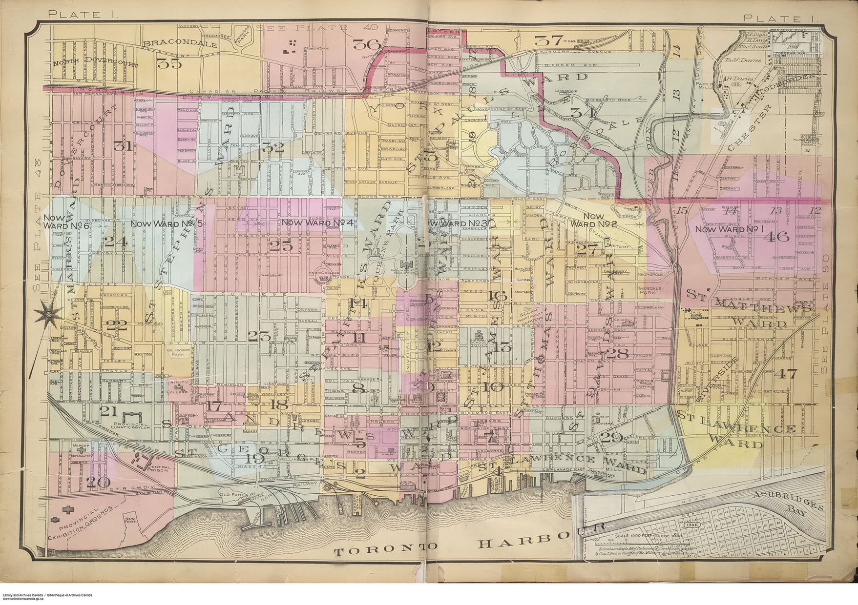 Northbay Fire Map.Goad S Atlas Of The City Of Toronto Fire Insurance Maps From The