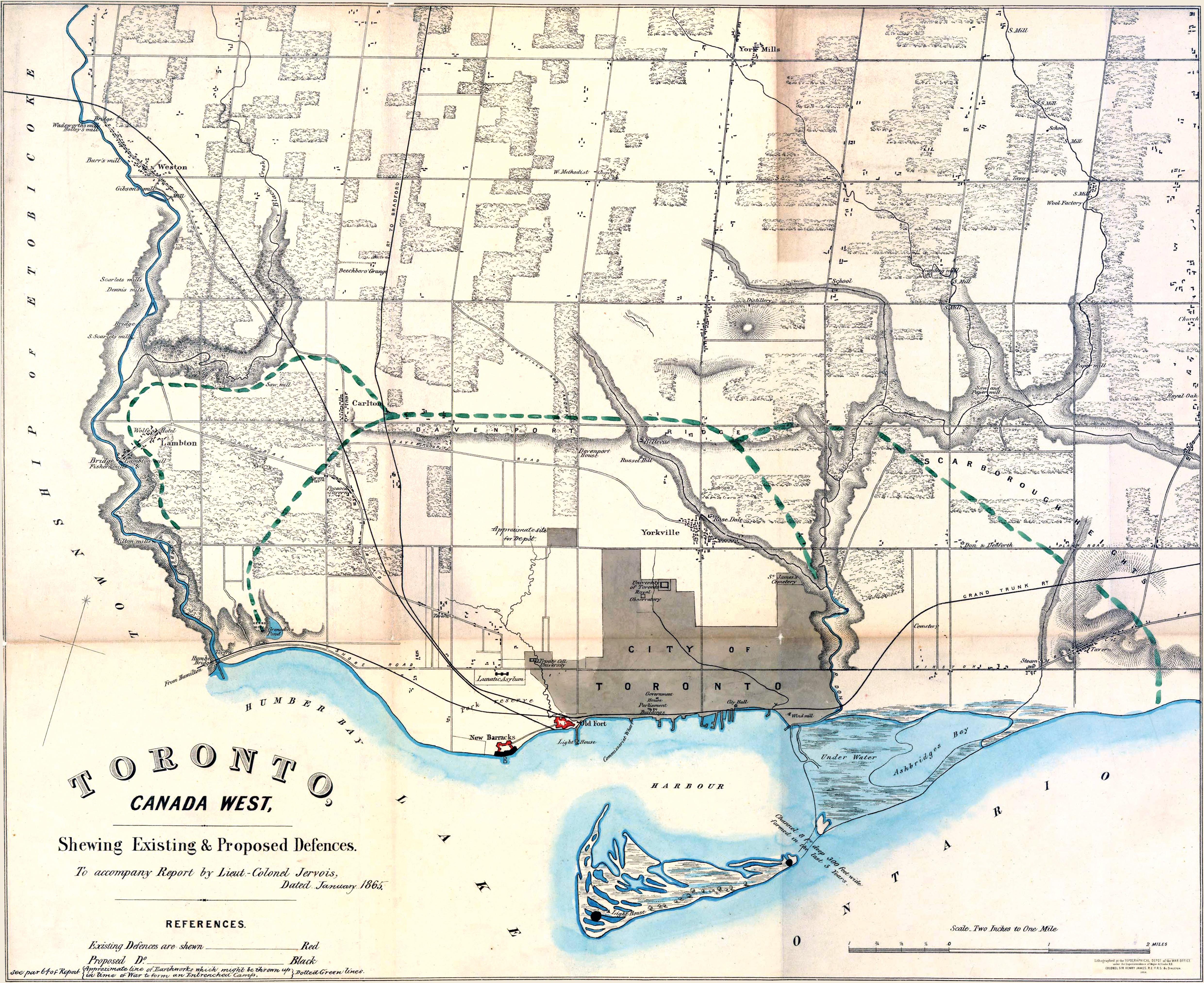 Historical Maps of Toronto: 1865 Jervois: Toronto, Canada West ...