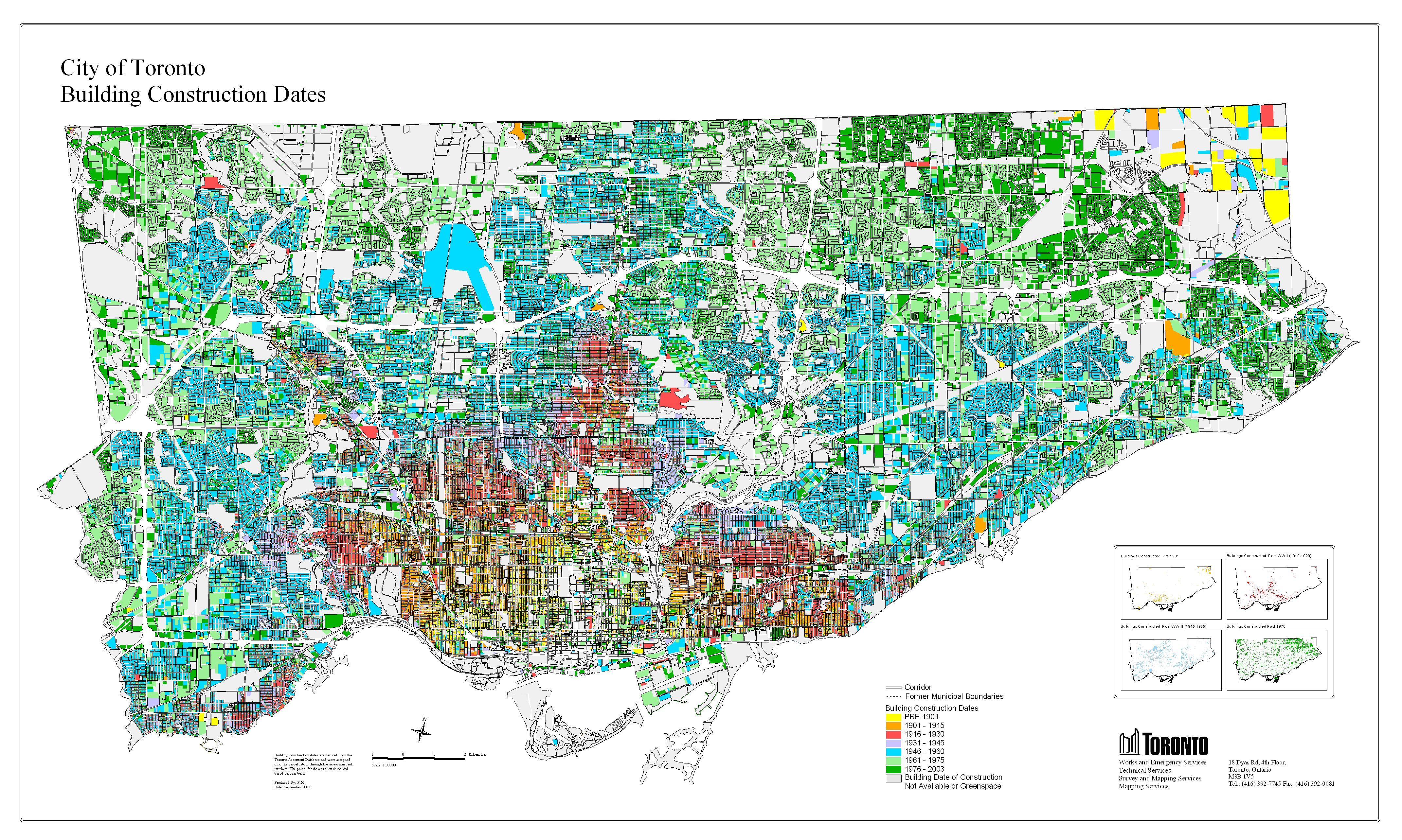 City Of Toronto Map Historical Maps of Toronto: Contemporary Maps with Historical  City Of Toronto Map