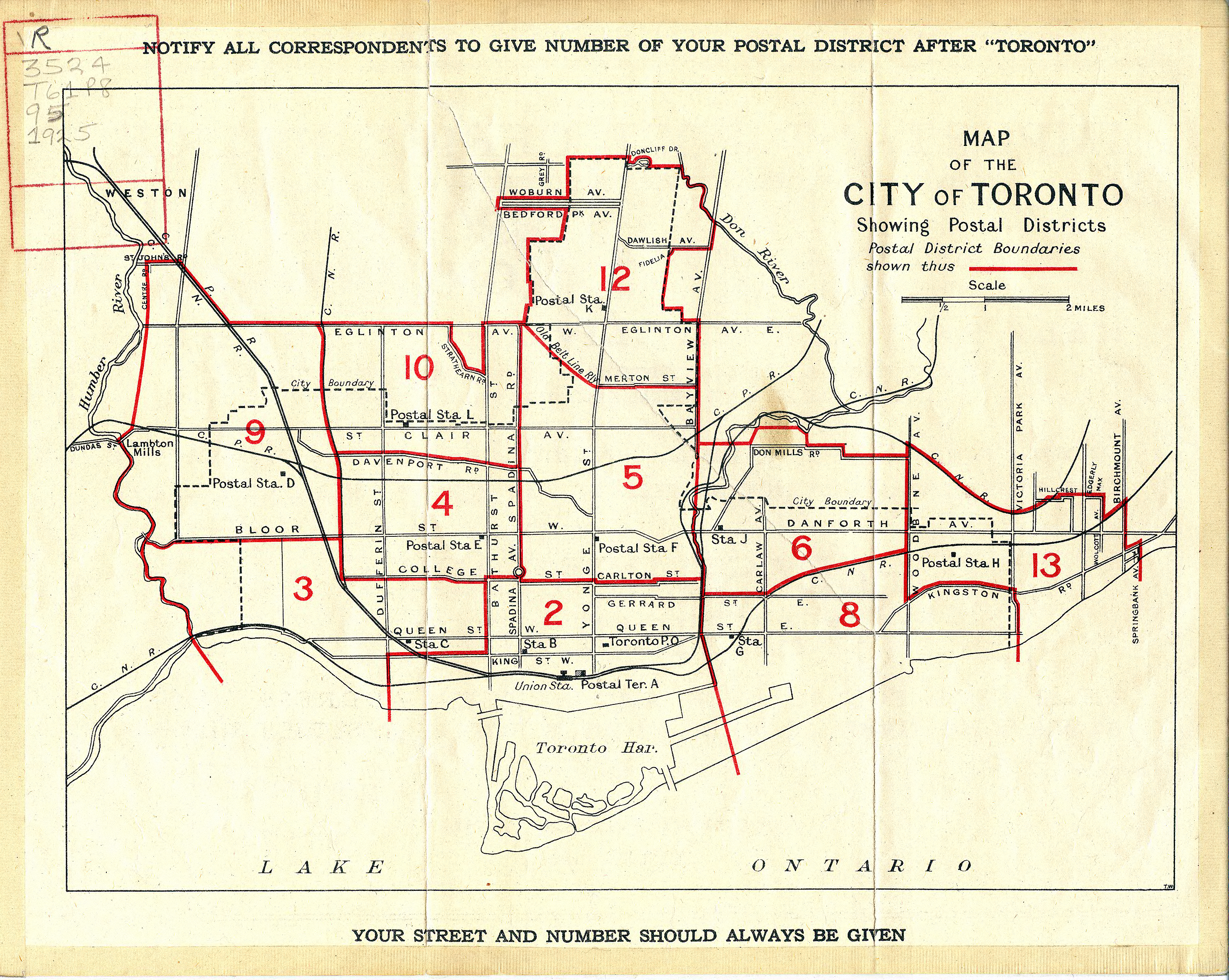 Postal codes in canada postal codes postal districts as of 1925 sciox Images