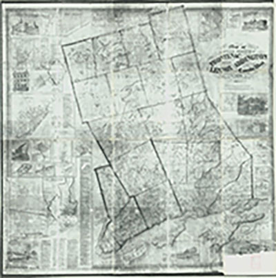 MONTREAL E 1913 CHAS CANADA ST PAUL/'S CHURCH /& ACADEMY COPY ATLAS MAP GOAD